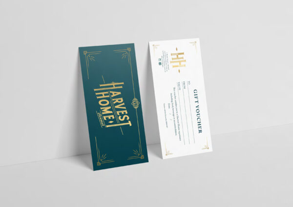 Image of printed gift cards
